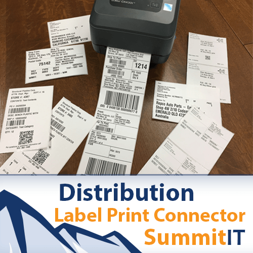 Printing NetSuite Distribution Labels