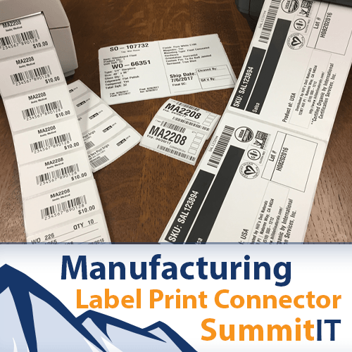 Printing NetSuite Manufacturing Labels