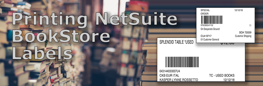 Printing Netsuite BookStore Labels
