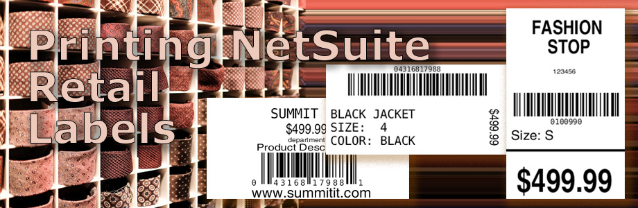Printing NetSuite Retail Labels