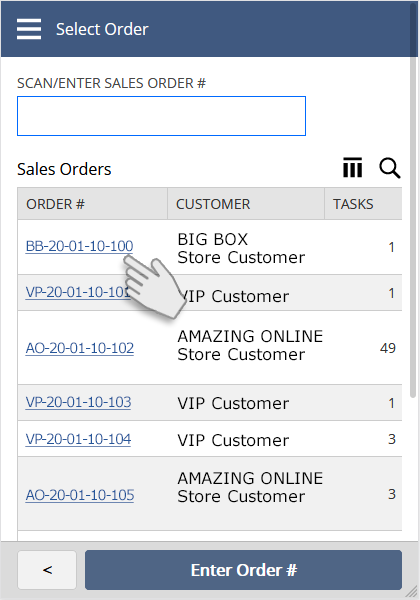 NetSuite SCM Mobile / WMS | Single Order Picking | Select Order| Print Labels and PDF Documents from your Mobile Device
